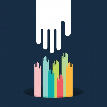Helping hand, vector