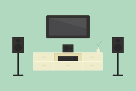 home theater: Home theater, vector Illustration