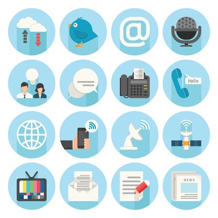 Communication Icons, vector 일러스트