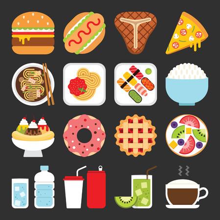 Food icons, le déjeuner