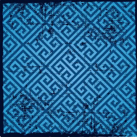 Background pattern -geometry lines, light blue color, greek pattern Ilustrace