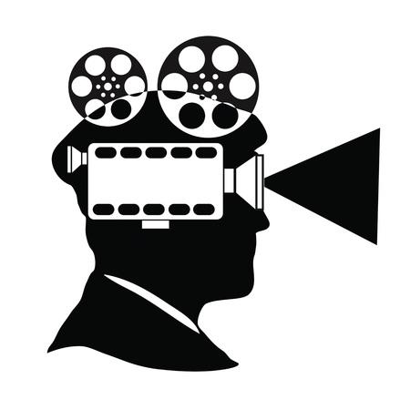 Filmmaker, producent, regisseur Vector Illustratie