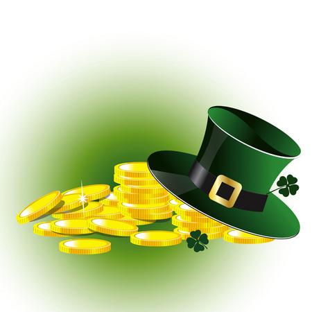 St.Patrick day on plain background. Illustration