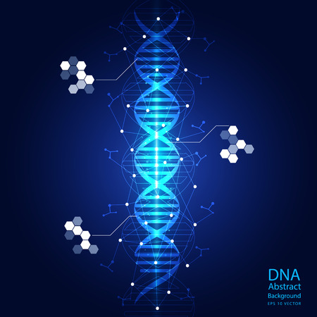 dna sequencing: dna abstract light blue background  Illustration