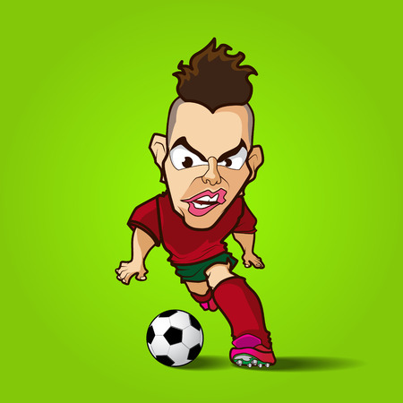 hardcore: The hardcore control football cartoon eps 10 vector
