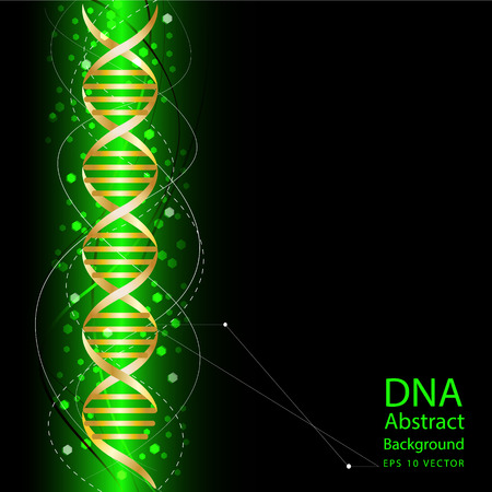dna sequencing: dna abstract green colour background