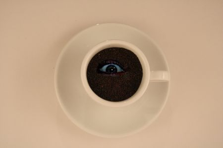 coffee with eye Stock Photo - 1029364