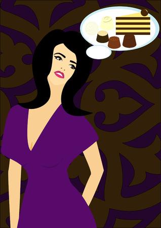 crave: Woman dreams sweets