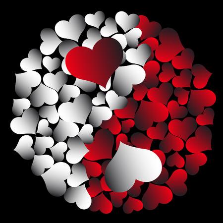 Heart yin-yang Illustration