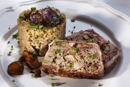 pasty: Liver pasty with risotto