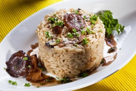 risotto with mushroom Standard-Bild