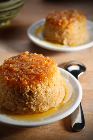 English pudding with ginger Stock Photo