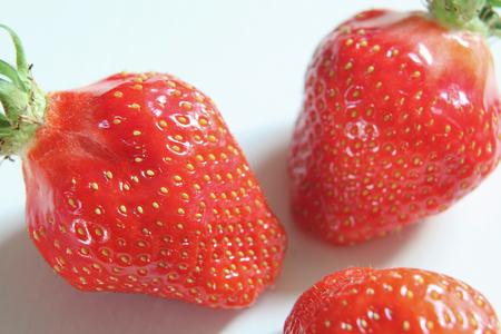 Close-up van mooie verse grote aardbeien Stockfoto