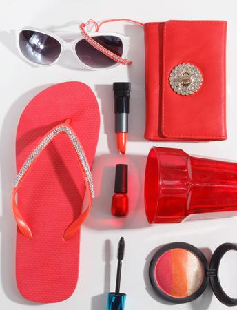 Close-up van modieuze zomer accessoires