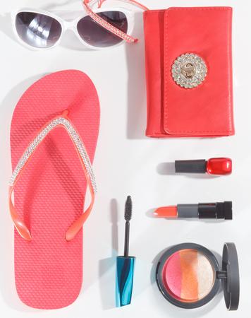 Close-up van Portraif zomer trendy accessoires voor vrouwen