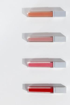 Close-up van kleurrijke lipglosses
