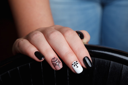 Close-up of beautiful manicured nails