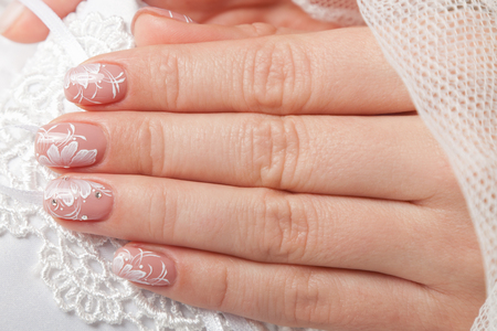 Close-up of beautiful manicured nails