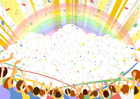 Spectator Confetti Rainbow Concentrated Line Background