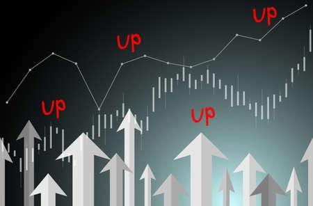 Arrows Graph UP Ilustracje wektorowe