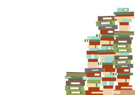 Multiple books piled up Векторная Иллюстрация