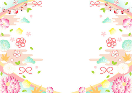 Gorgeous Japanese pattern pastel color