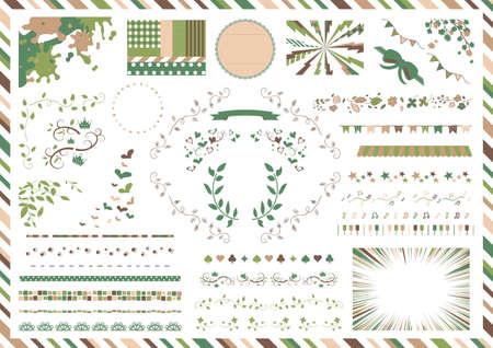 Cute material collection of women's preference 2 Vektoros illusztráció