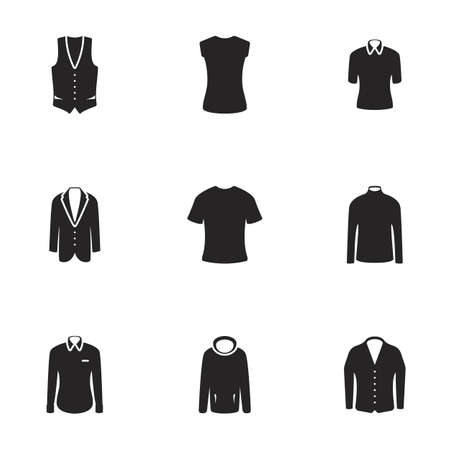 Men's clothing. White background 矢量图像