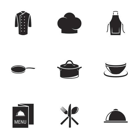 Icons for theme Chef. White background