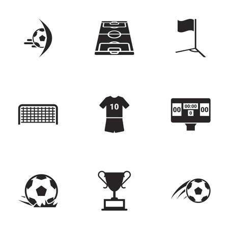 Icons for theme football, vector, icon, set. White background