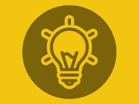 Vector icon. Illustration on a theme Bulb