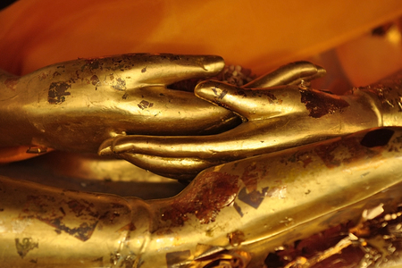 backlash: Hand of Buddha Asia Stock Photo