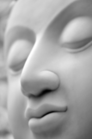 blur-The face of Buddha in Asia Stock Photo