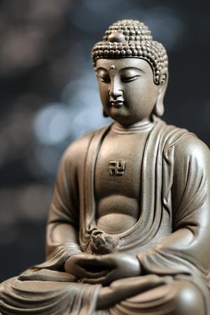 Buddha on the background of nature Stock Photo
