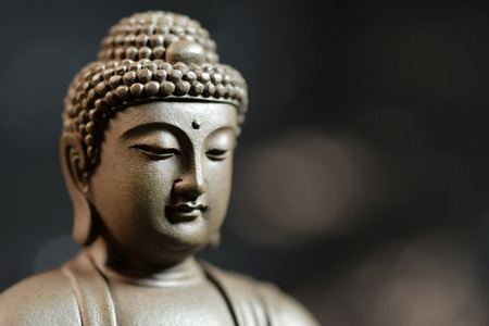 The face of the Buddha-style Zen on natural background