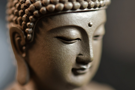 The face of the Buddha-style Zen Stock Photo