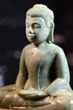 Stone Buddha, Khmer style Stock Photo