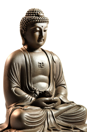 Zen Buddha sculpture on a white background Zdjęcie Seryjne
