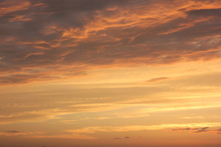 gules: Sunset view of sky and cloud Stock Photo