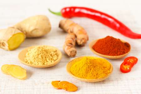 Oriental colorful mix of fresh and dry spices