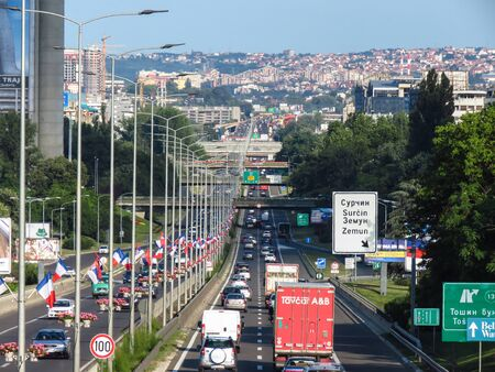 Belgrade, Serbia. July 16 2019. Traffic on highway E-75.