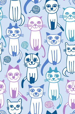skein: cat skein seamless pattern