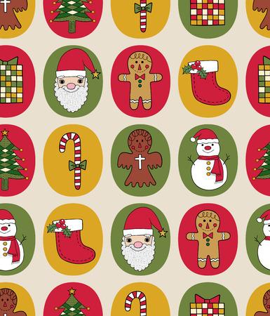 x mas background: Seamless christmas pattern
