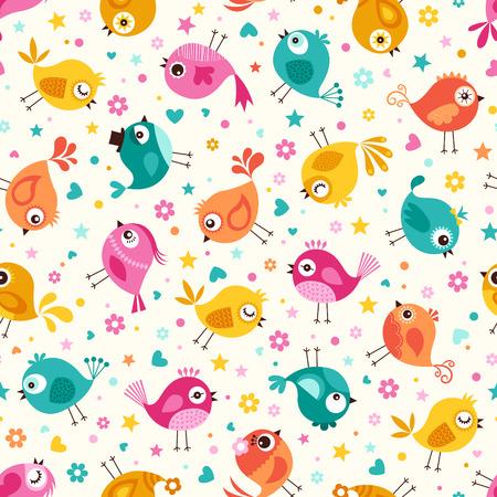 seamless birds pattern Reklamní fotografie - 29506447