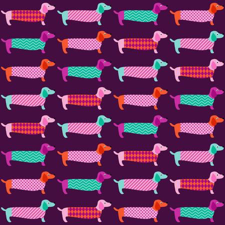 seamless cute dogs pattern