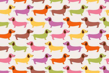 원활한 귀여운 강아지 패턴 일러스트