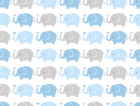 원활한 코끼리 만화 패턴 일러스트
