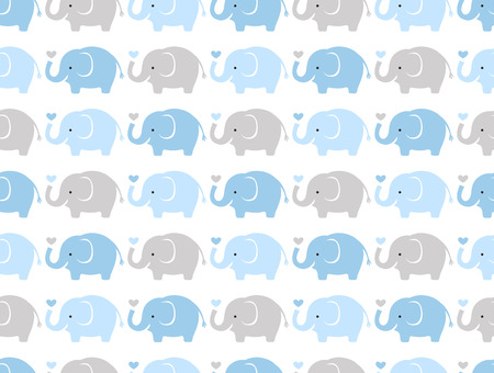 seamless elephant cartoon pattern  Çizim