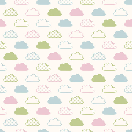 seamless clouds background pattern