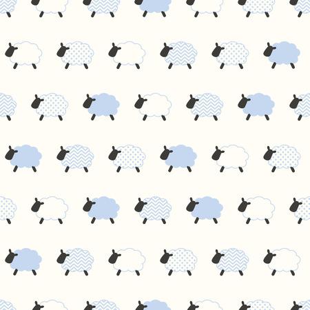 ovejas bebes: patrón de las ovejas sin fisuras Vectores